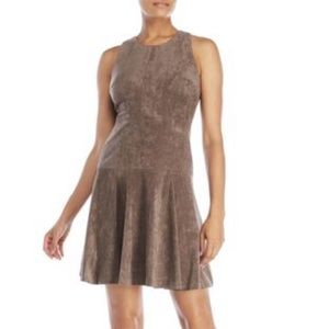 Ivanka Trump Brown Suede Fit Flare A-line Dress 6